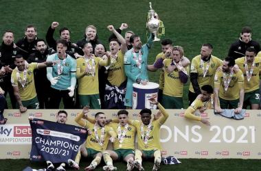 Norwich City, uno de los tres equipos que disputarán la próxima Premier / Foto: EFL