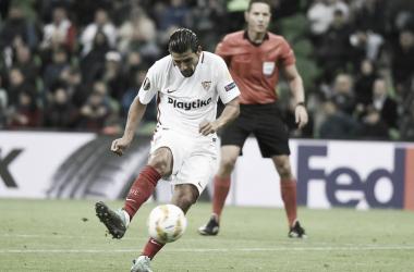 Nolito en el encuentro contra Krasnodar del pasado mes de octubre | Foto: Sevilla FC