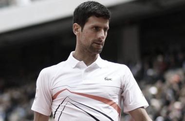 Djokovic durante su partido de hoy. Foto: Getty Images.