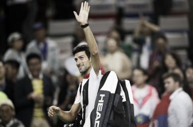 Djokovic saludando al público justo después del partido. Foto: GettyImages