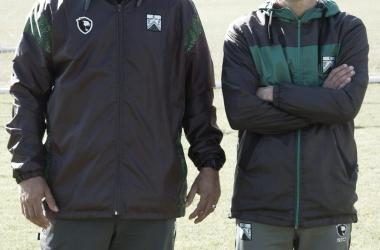 Sergio Gómez y Favio Orsi (Foto: Ferrocarril Oeste)