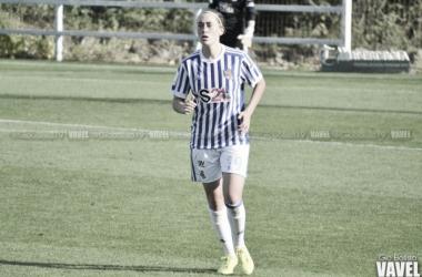 Nuria Mendoza con la Real Sociedad. Foto: Giovanni Batista (VAVEL)