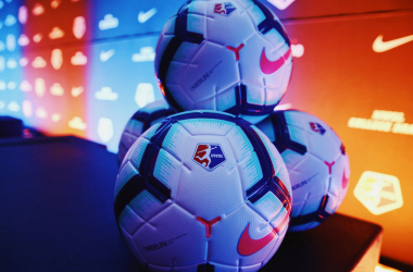 The 2019 NWSL game ball l Photo: Meg Linehan/ NWSL Media
