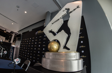 The 2017 Championship Trophy ahead of the 2018 Championship Game. |  Photo: Jeremy Reper - isiphotos.com