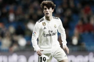 El lateral madridista en el partido (Foto: Real Madrid C.F)