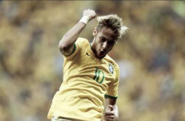 Com quatro golos, Neymar é o melhor marcador do Mundial 2014. (Foto: Jefferson Bernardes/VIPCOMM)