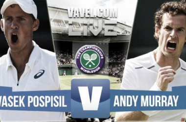 Result Vasek Pospisil - Andy Murray in Wimbledon 2015 Quarter-Final (4-6, 5-7, 4-6)
