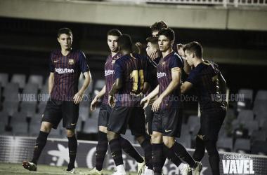 El Barça B en pretemporada. Foto: Noelia Déniz, VAVEL