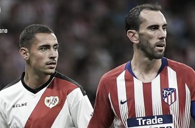 Sergio Moreno en su debut ante el Atlético de Madrid | Fotografía: Rayo Vallecano S.A.D.
