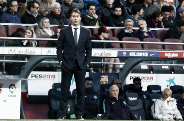 Julen en el encuentro ante el FC Barcelona | Fotografía: LaLiga Santander