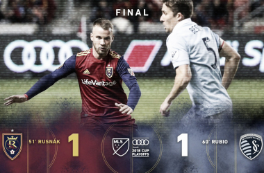 Real Salt Lake rescata un empate ante Sporting Kansas City