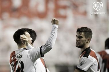 Celebración del gol de Álvaro García | Fotografía: Rayo Vallecano S.A.D.
