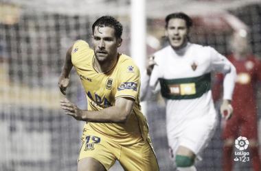 David Fernández en un partido con el Alcorcón | LaLiga 1|2|3