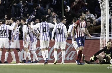 Nacho junto a sus compañeros en el encuentro ante el Atlético de Madrid | Fotografía: LaLiga Santander
