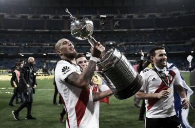 Maidana fue multicampeón con el Millonario. Ganó un total de 11 títulos. Foto: Web.