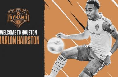 Marlon Hairston, uno de los flamantes refuerzos de la naranja | Fotografía: Houston Dynamo