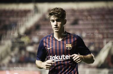 Álex Collado con el Barça B esta temporada. Foto: Noelia Déniz, VAVEL