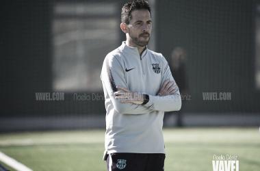 Sergi Milà esta temporada con el FCB Cadete B. / Foto: Noelia Déniz (VAVEL)