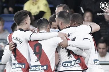 Celebración del gol de Mario Suñarez al Villarreal | Fotografía: Rayo Vallecano S,A,D.