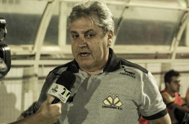 Técnico estreou nesta quinta-feira com Criciúma (Foto:Lucas Gabriel Cardoso/Brusque FC)