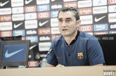 Ernesto Valverde en rueda de prensa. Foto: Ernesto Aradilla, VAVEL