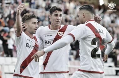 Celebración de un gol. Foto: Rayo Vallecano S.A.D.