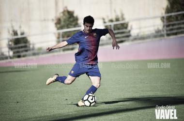 Mateu Jaume con el FCB Juvenil A. Foto: Noelia Déniz, VAVEL