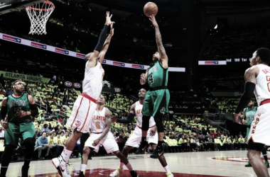 Boston Celtics and Atlanta Hawks get ready for Game 2 at Philips Arena, Tuesday, April 19. | Scott Cunningham