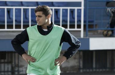 Brahim en un entrenamiento del Melilla   Foto: Melilla Es Deporte
