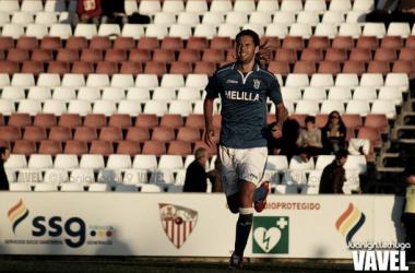 David Sánchez celebrando un gol.