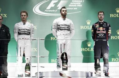 Em prova marcada por acidente de Bianchi, Hamilton vence em Suzuka