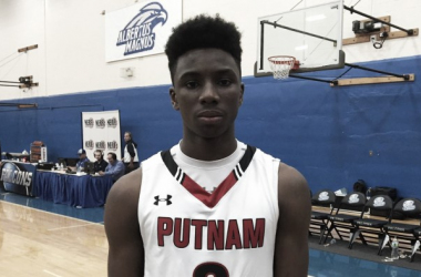 Diallo with his high school team Putnam Science Academy. Scout.com