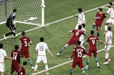 Hector Moreno's last ditch header that leads to Mexico drawing at the death.Photo: Maxim Shemetov- Reuters