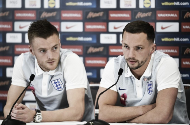 Jamie Vardy and Danny Drinkwater talk England | Photo: sports--news.com