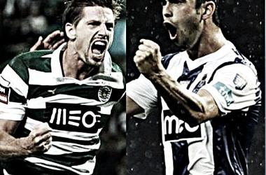 Adrien e Defour. Fotos: Sporting | UEFA