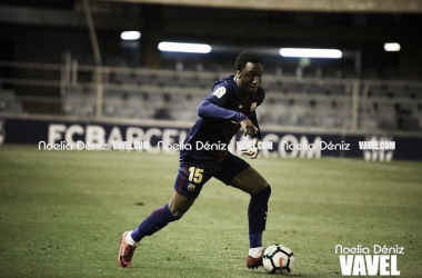 Ballou Tabla, en acción con el Barça B