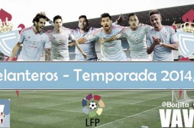 Puntuaciones Real Club Celta 2014/2015: delanteros