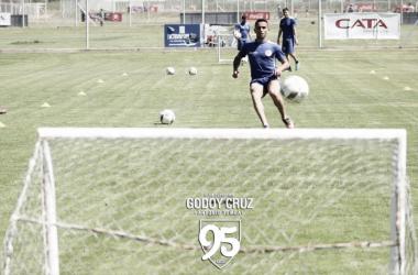 Foto archivo de los entrenamientos del 'Tomba'. | Foto: Prensa Godoy Cruz.
