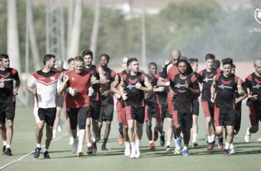 Último entrenamiento en Marbella. Foto. Rayo Vallecano S.A.D.