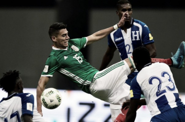 Hector Moreno against Honduras in their last encounter | Source: Alfredo Estrella - AFP