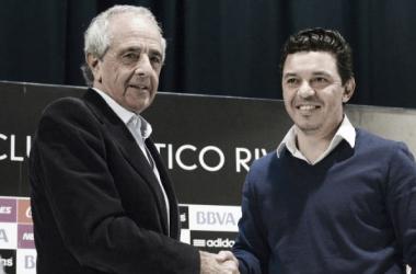 La contratación de Marcelo Gallardo como entrenador fue el gran acierto de la gestión D'Onofrio. Foto: El Gráfico.
