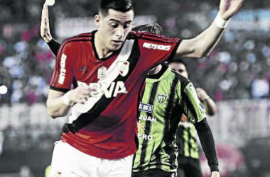 Ramiro Funes Mori disputó 108 partidos en River y convirtió diez goles. Foto: Diario Olé.