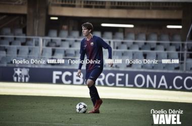 Juan Miranda en la UEFA Youth League con el FCB Juvenil A. Foto: Noelia Déniz, VAVEL