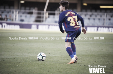 Riqui Puig durante su debut con el Barça B. Foto: Noelia Déniz, VAVEL