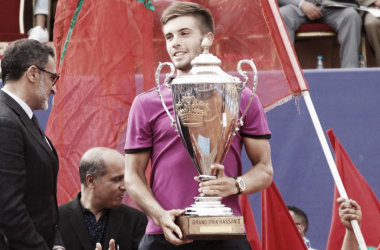 Borna Coric winning his maiden title here in Marrakech, Morocco (Photo: ATP World Tour)