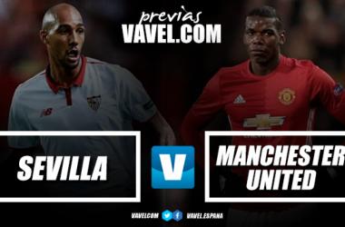 Sevilla e Manchester United medem forças pela ida da Champions League