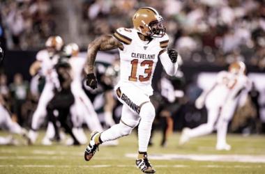 Odell Beckham Jr. hizo lo que quiso con la defensiva de los Jets | Foto: Cleveland Browns
