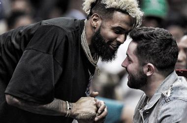Odell Beckham Jr y Baker Mayfield (foto Cleveland Browns)