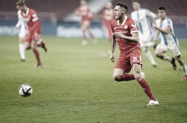 Ocampos con la pelota / @SevillaFC (Twitter)