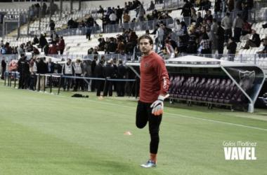 Ochoa en su debut con el Málaga CF. Foto: VAVEL.com